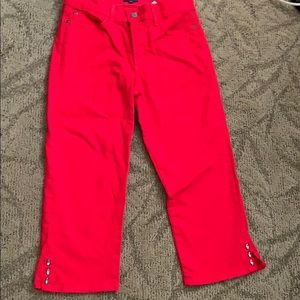 NYDJ red cropped jeans